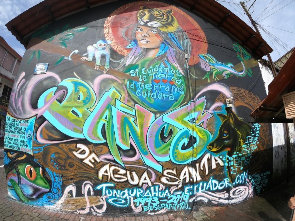 Quito to banos tour, quito banos, quito to banos, banos ecuador, banos ecuador rafting, banos swing, Ecuatouring, banos graffiti, ecuador travel, ecuador tourist attractions, pailon del diablo
