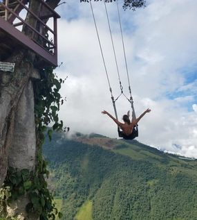 Swing at the end of the world, end of the world swing, banos ecuador, ecuador travel